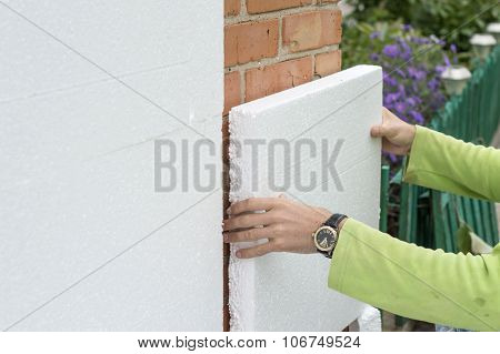 The Process Of Attaching The White Foam