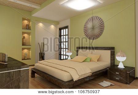 render of apartment  bedroom room