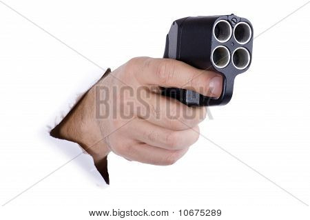 Hand With Traumatic Gun