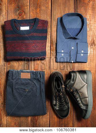 Menswear Set In Casual Style