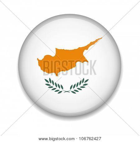 Cyprus Button Flag
