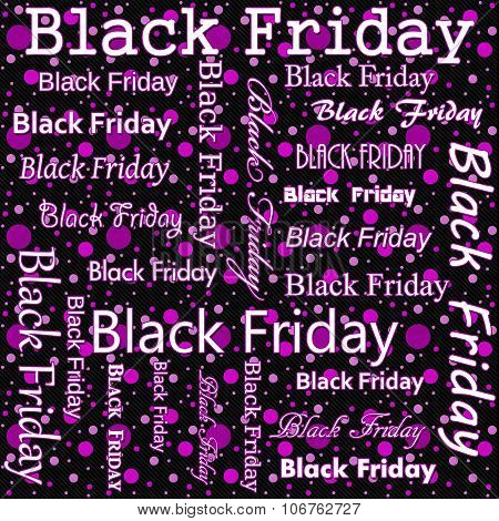 Black Friday Design With Pink And Black Polka Dot Tile Pattern Repeat Background