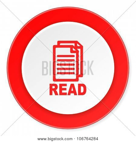 read red circle 3d modern design flat icon on white background