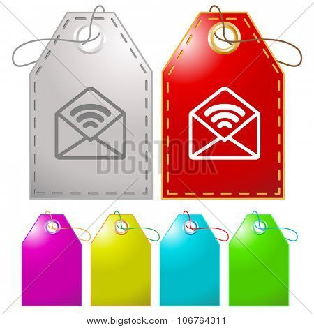 open mail with sound. Raster tags.