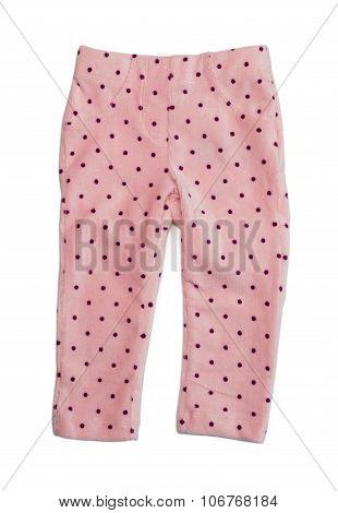Pink Polka Dot Pants