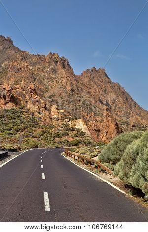 Road To Volcano Teide.