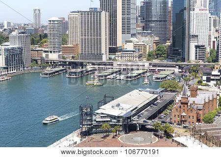 Sydney cityscape and Circular Quay