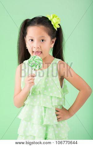 Enjoying lollipop