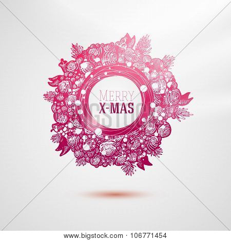 Fashion style colorful Xmas label