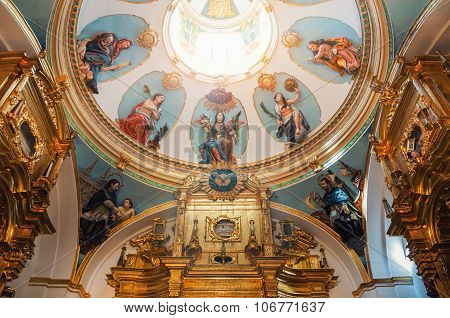 Interior of Cathedral in burgos