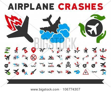Airplane Crashes Icons