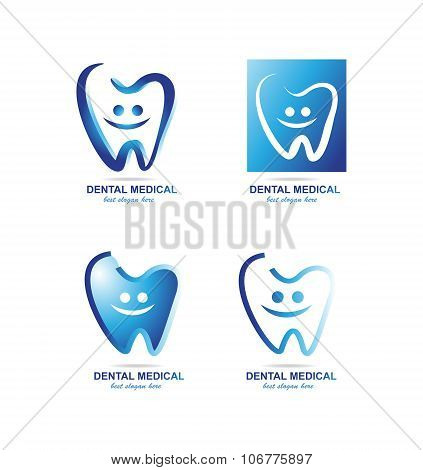 Dentist Dental Logo Icon Set