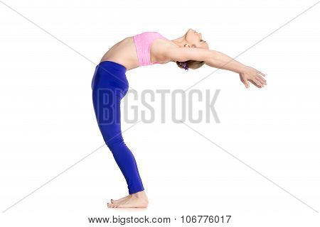 Yogi Female Doing Ardha Chakrasana