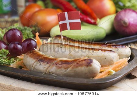 Grill Sausage And Vegetables