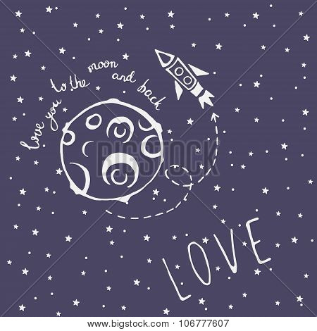 Card Love You To The Moon And Back