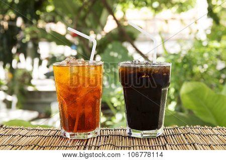 Ice Black Coffee And Tea