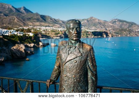 Monument to King of Spain Alfonso XII In Nerja, Spain