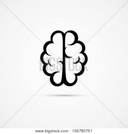 Brain Icon Pictogram