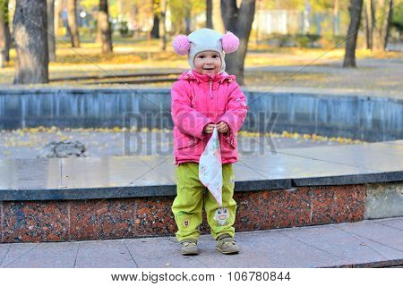 Girl With Handkerchief In The Park