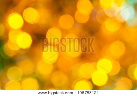 Yellow And Green Dark Flickering Christmas Lights