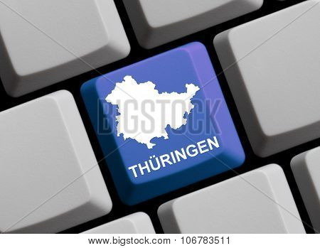 Computer Keyboard - German Federal State Thuringia
