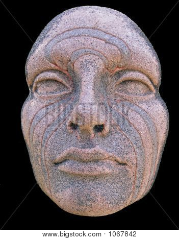 Stock photo : Plaster Cast Face With Maori Moko Tattoo