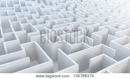 3D Maze in aerial view.