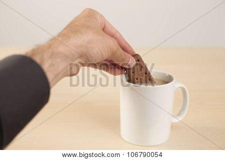 Dunking Bourbon Into Tea