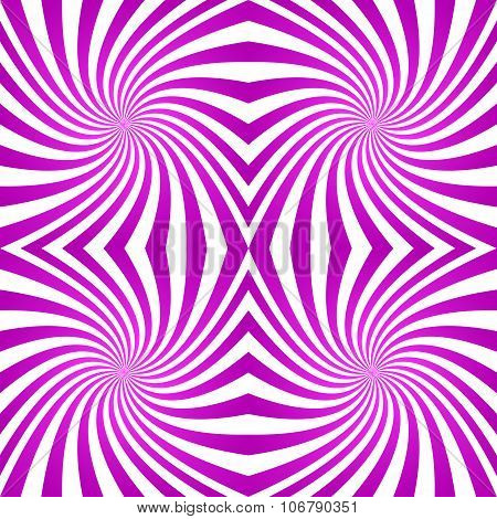 Magenta striped twirl pattern background