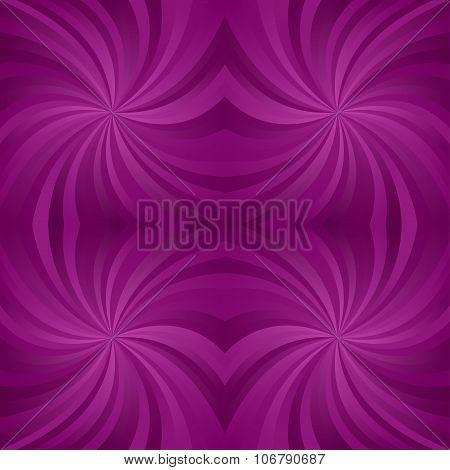 Seamless purple symmetric twirl pattern background