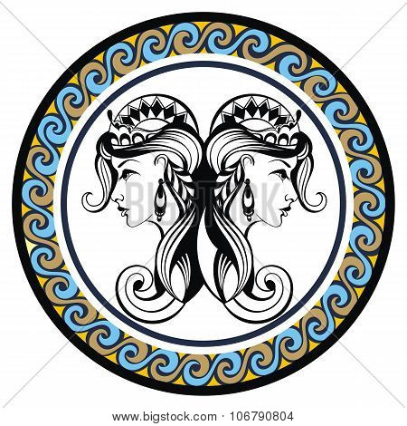 Decorative Zodiac sign Gemini