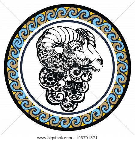 Decorative Zodiac sign Aries