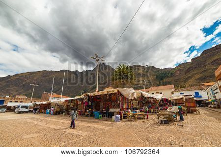 Sunday Market In Pisac, Cusco Region, Peru