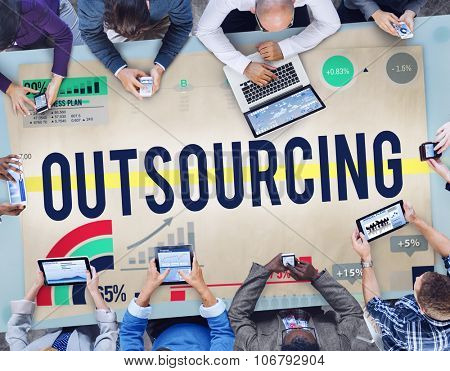 Outsourcing Recruitment Human Resource Hiring Concept