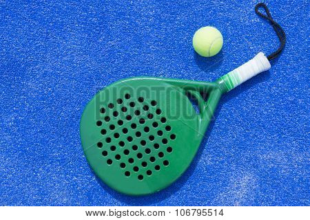 Racket And Ball Of Paddle Tennis