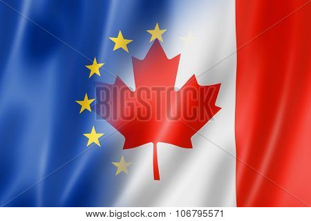 Europe And Canada Flag
