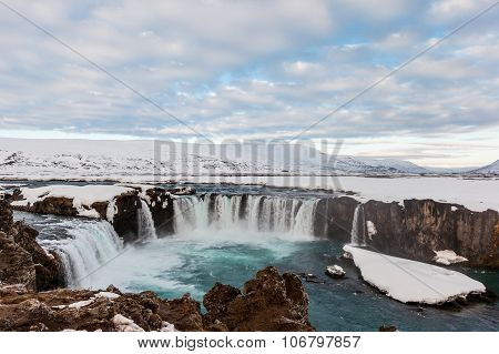 Godafoss Fall In The Morning, Iceland.