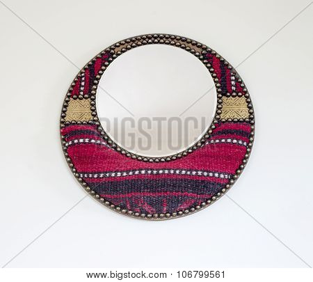 Round Mirror Souvenir From Tunisia