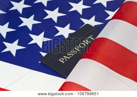 American Flag And Passport Reflect Pride Of Citizenship