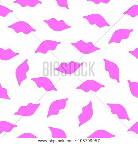 Lips seamless texture pink color
