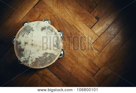 Old Wooden Tambourine