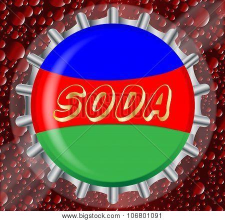 Soda Bottle Cap With Bubbles
