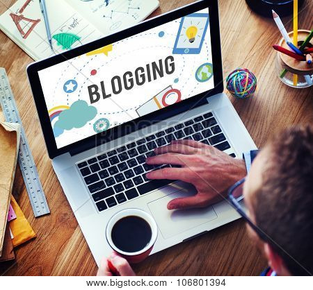 Blogging Blog Internet Media Networking Social Concept