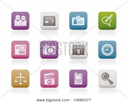 web site, computer and business icons