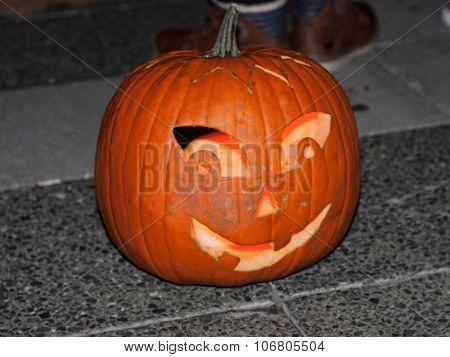 Happy Halloween pumpkin head