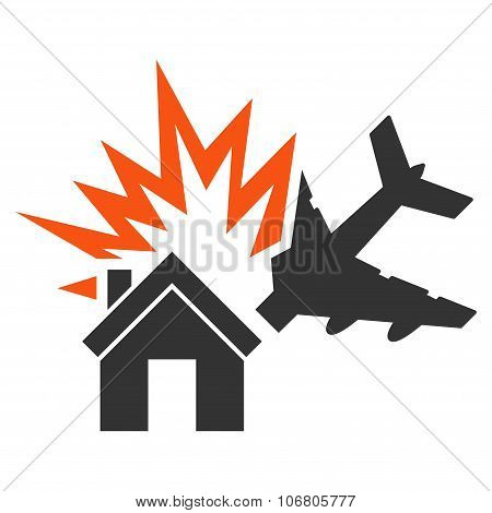 Aircraft House Collision Icon