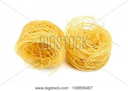 pasta nest isolated on white