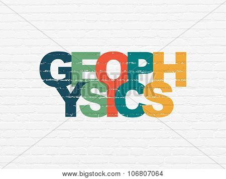 Science concept: Geophysics on wall background