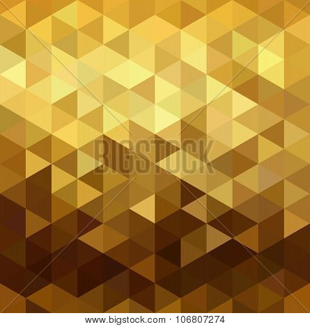 Gold Pattern Low Poly Triangle Geometry Fancy