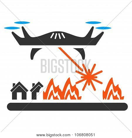 Laser Drone Attacks Village Icon